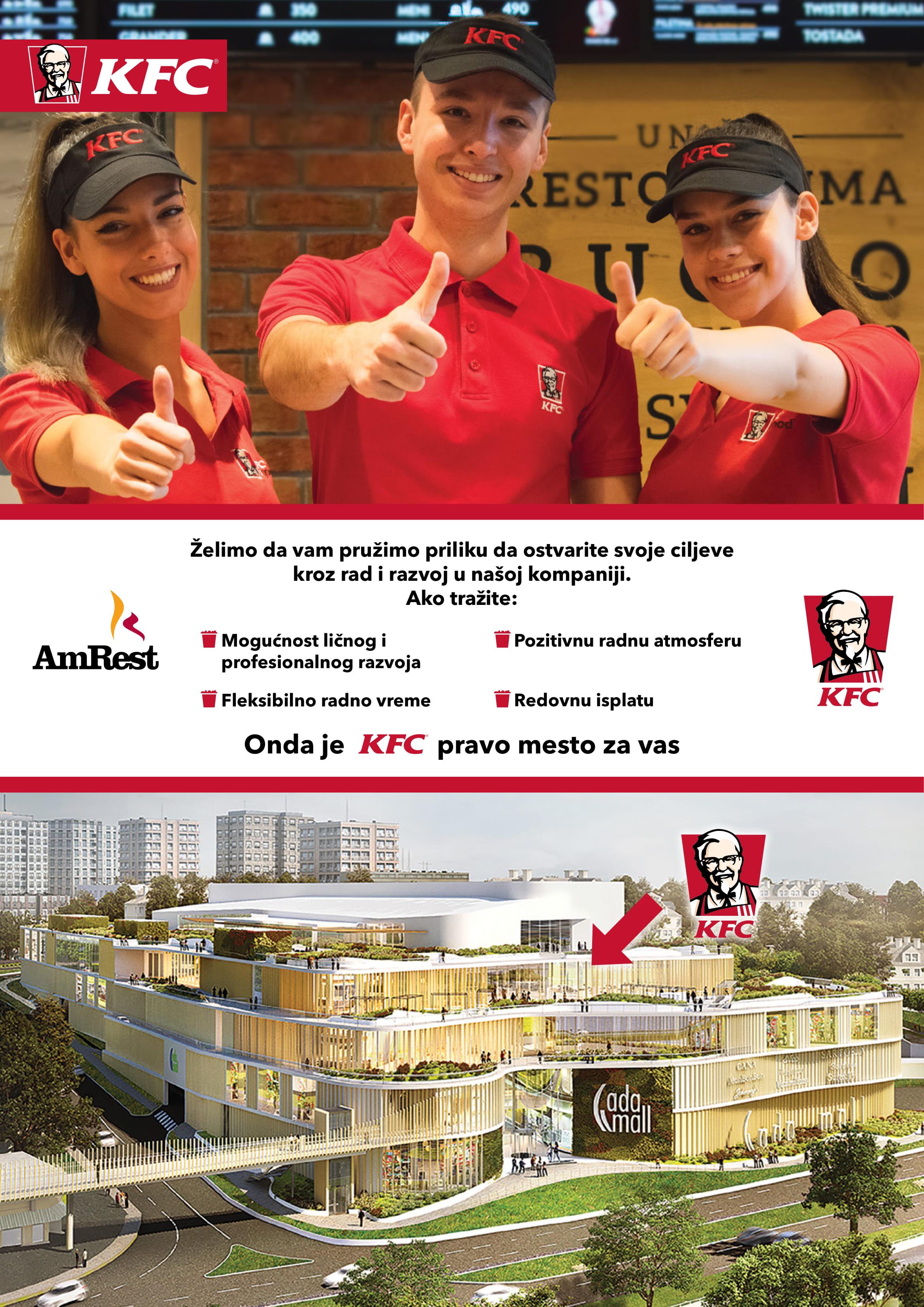 Radnici u KFC restoranima