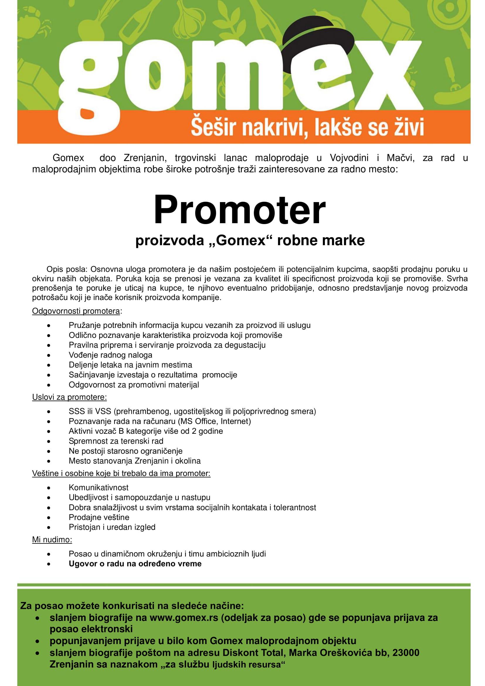 Promoter / Promoterka