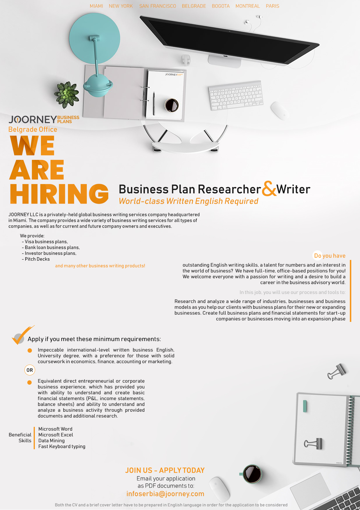Business Plan Researcher and Writer