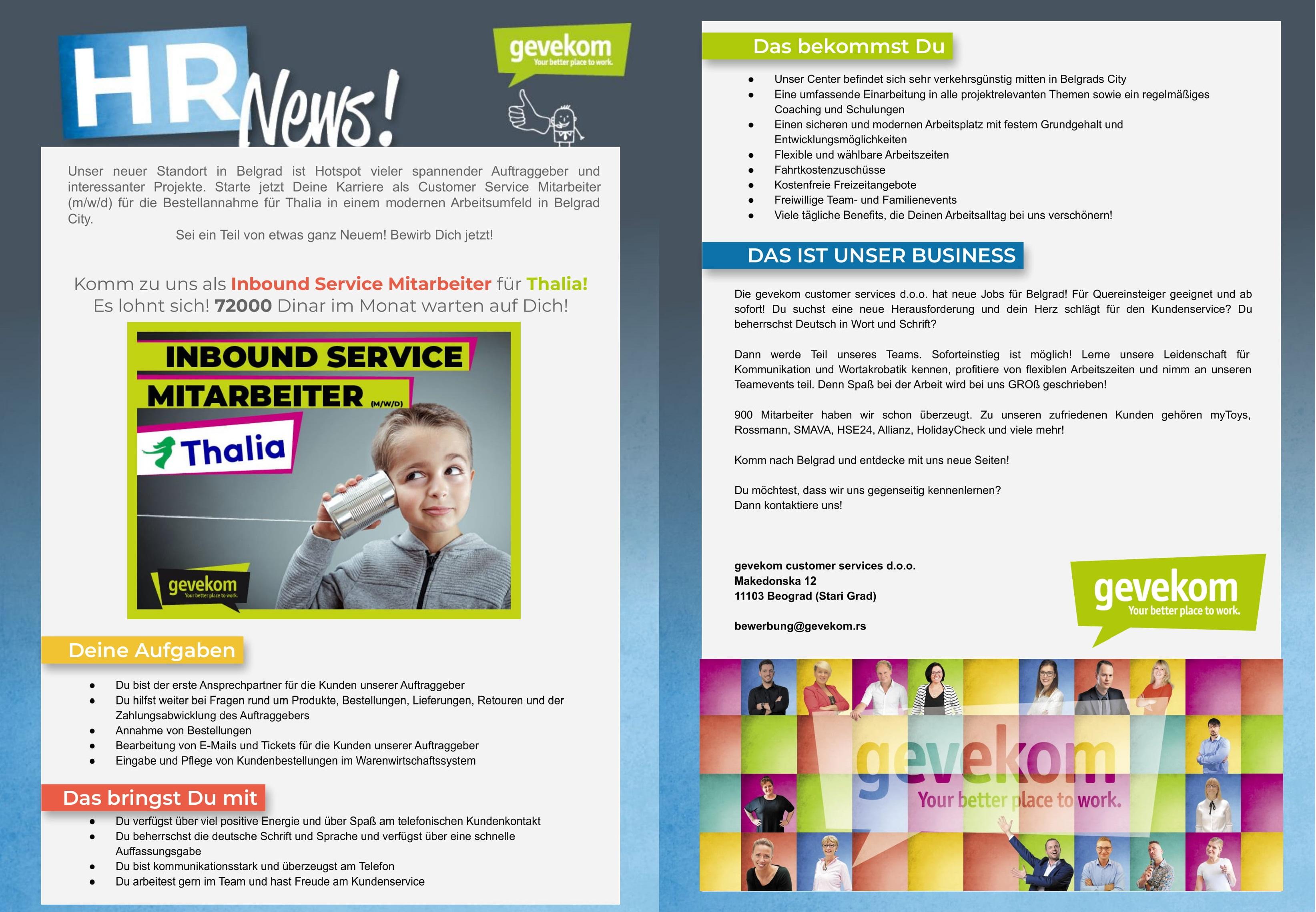 Inbound Service Mitarbeiter (m/w/d)