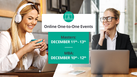 Online MBA and Masters Events (10 – 13 December 2018)