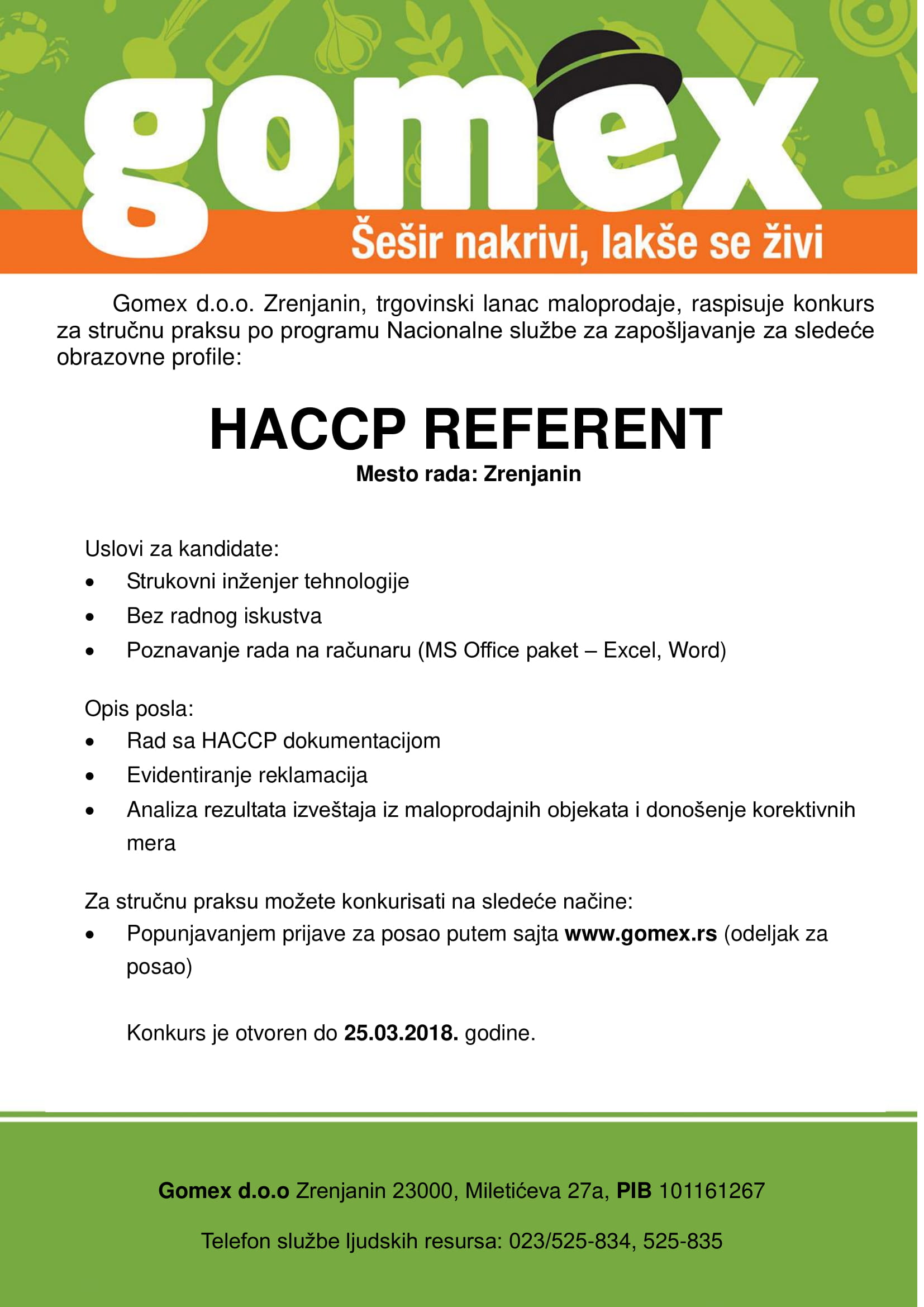 HACCP Referent