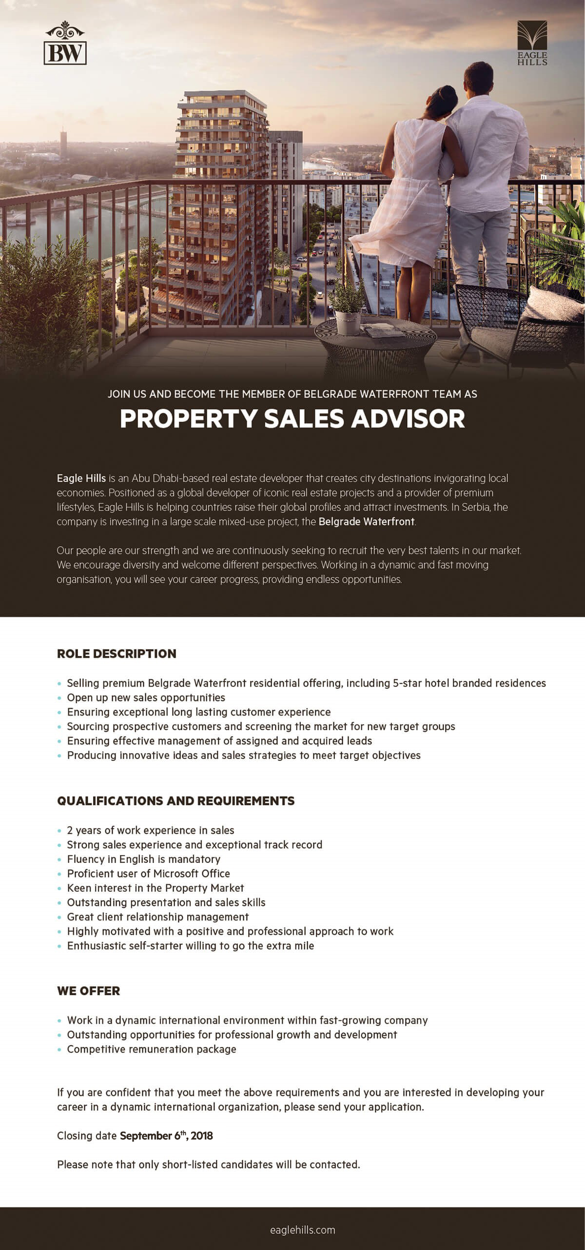 Property sales advisor